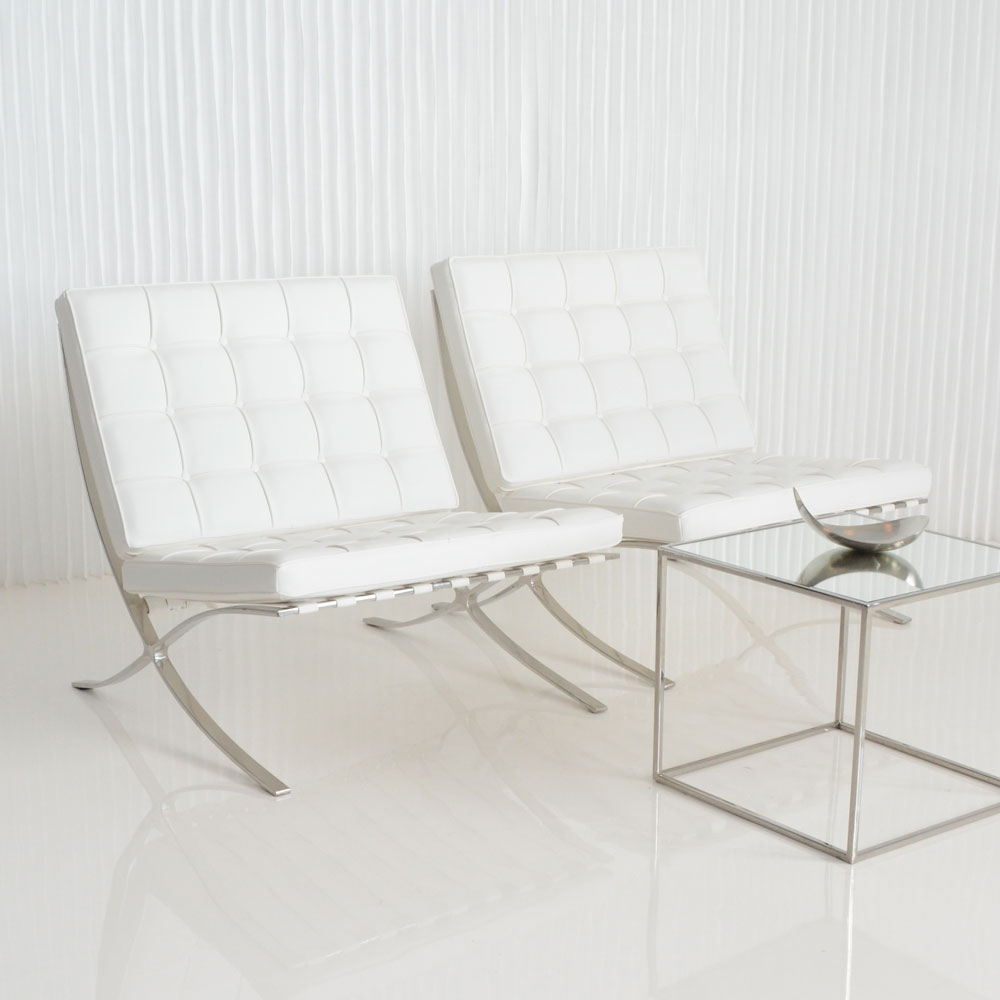 Barcelona Chair White « »