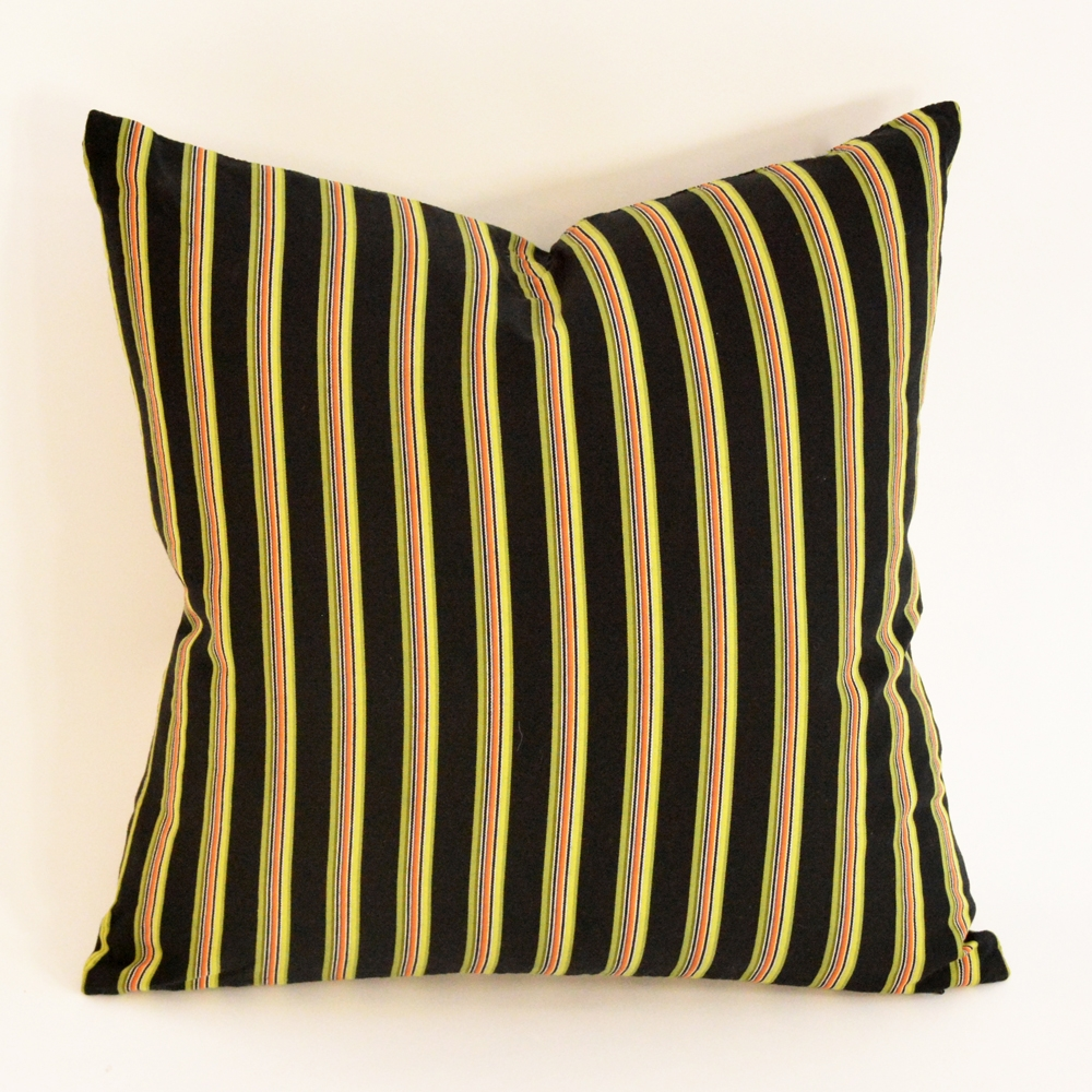 night stripe pillow