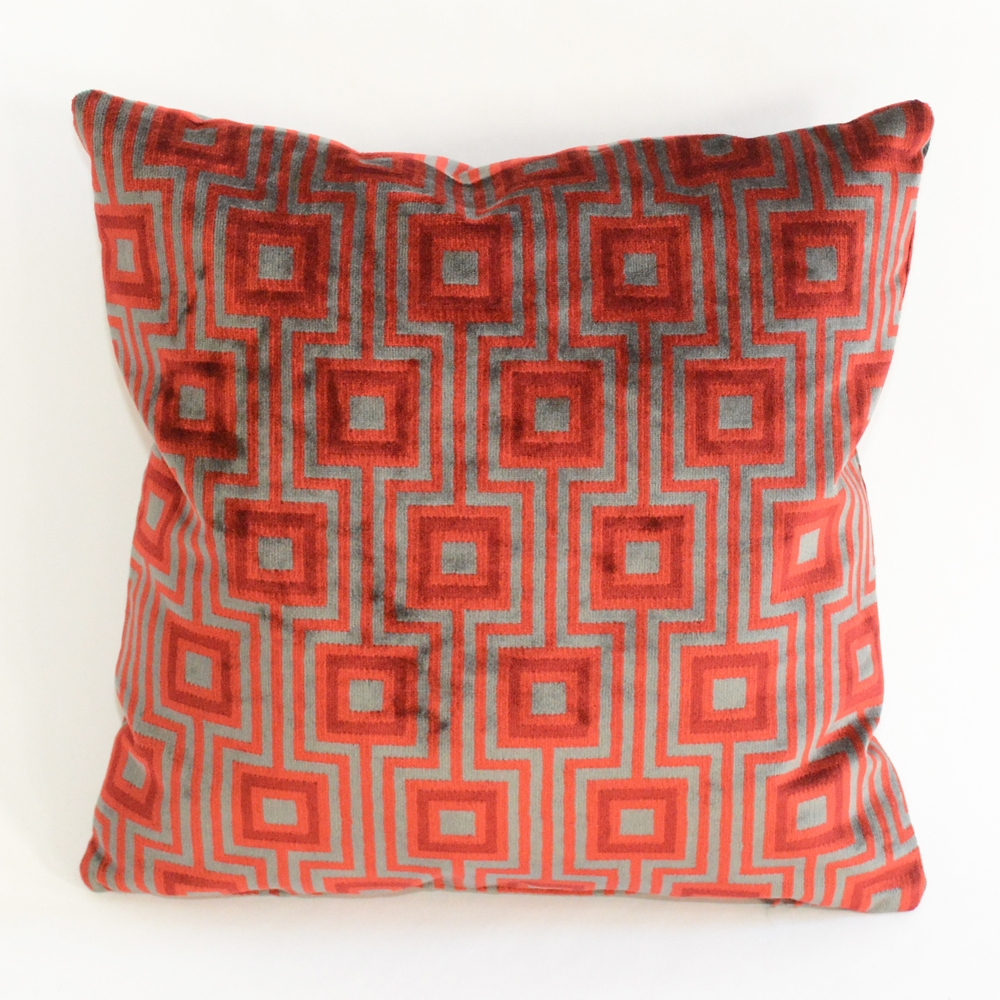 deco red pillow