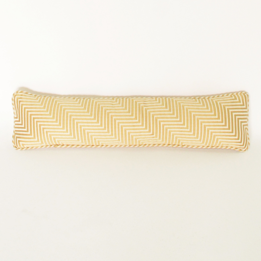 bolster mini chevron gold