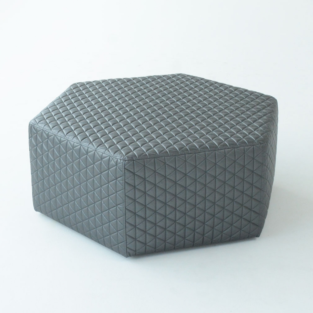 hex ottoman dimension gray