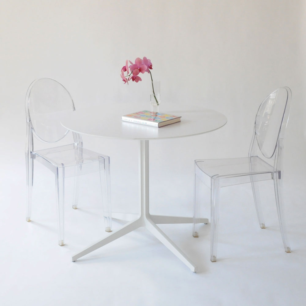 Leo Round Table White « »