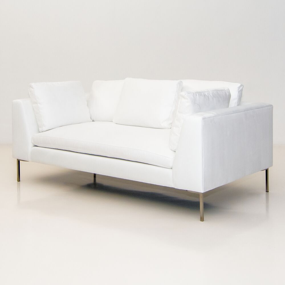 Sofa Hudson hudson sofa white furniture rentals for special events
