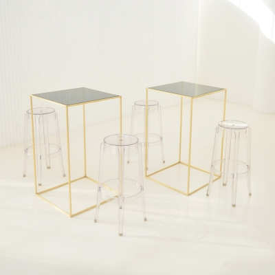 Additional image for maxwell square pedestal smoke glass
