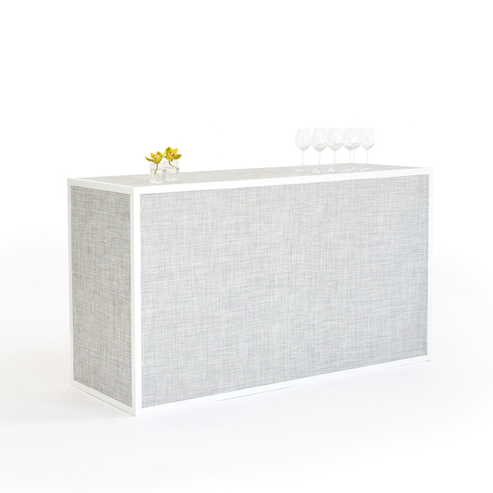 chilewich bar - white/silver