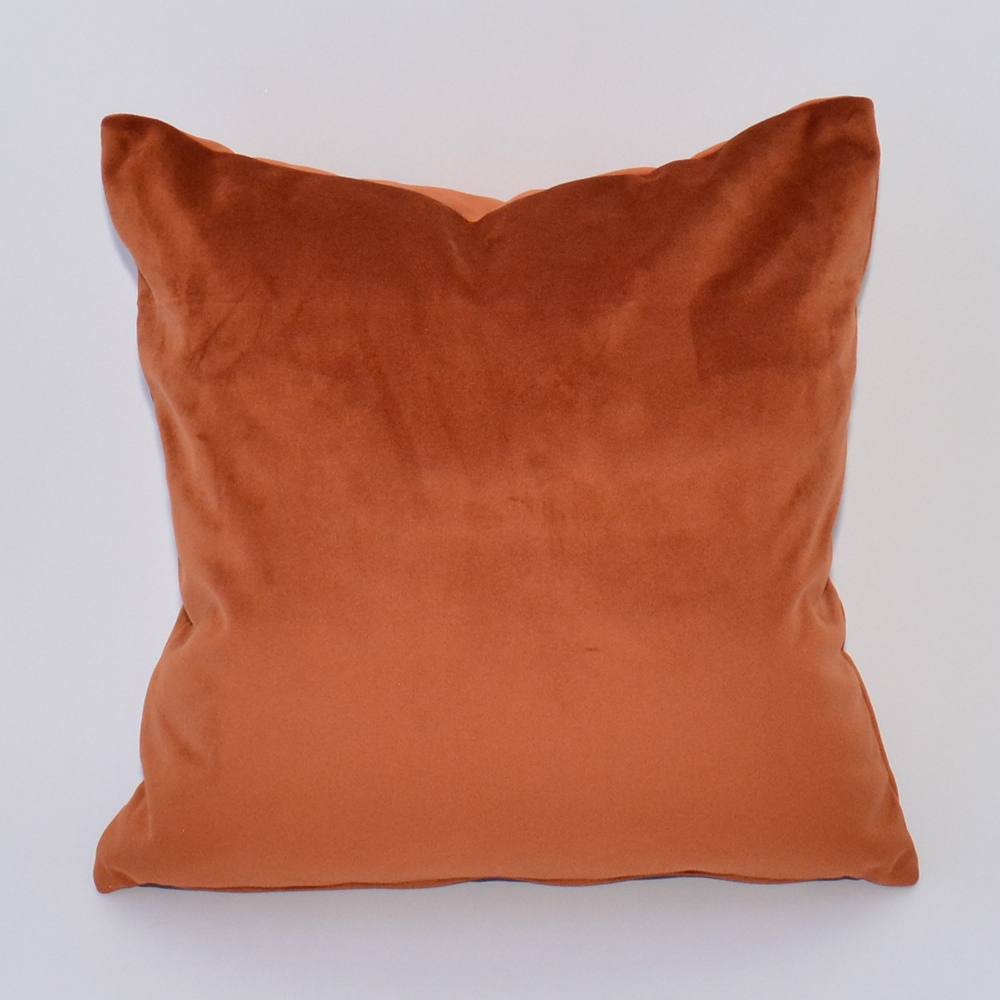 ginger velvet pillow