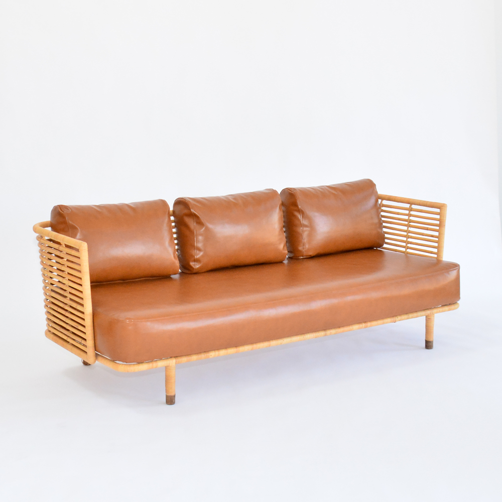 cane sofa saddle