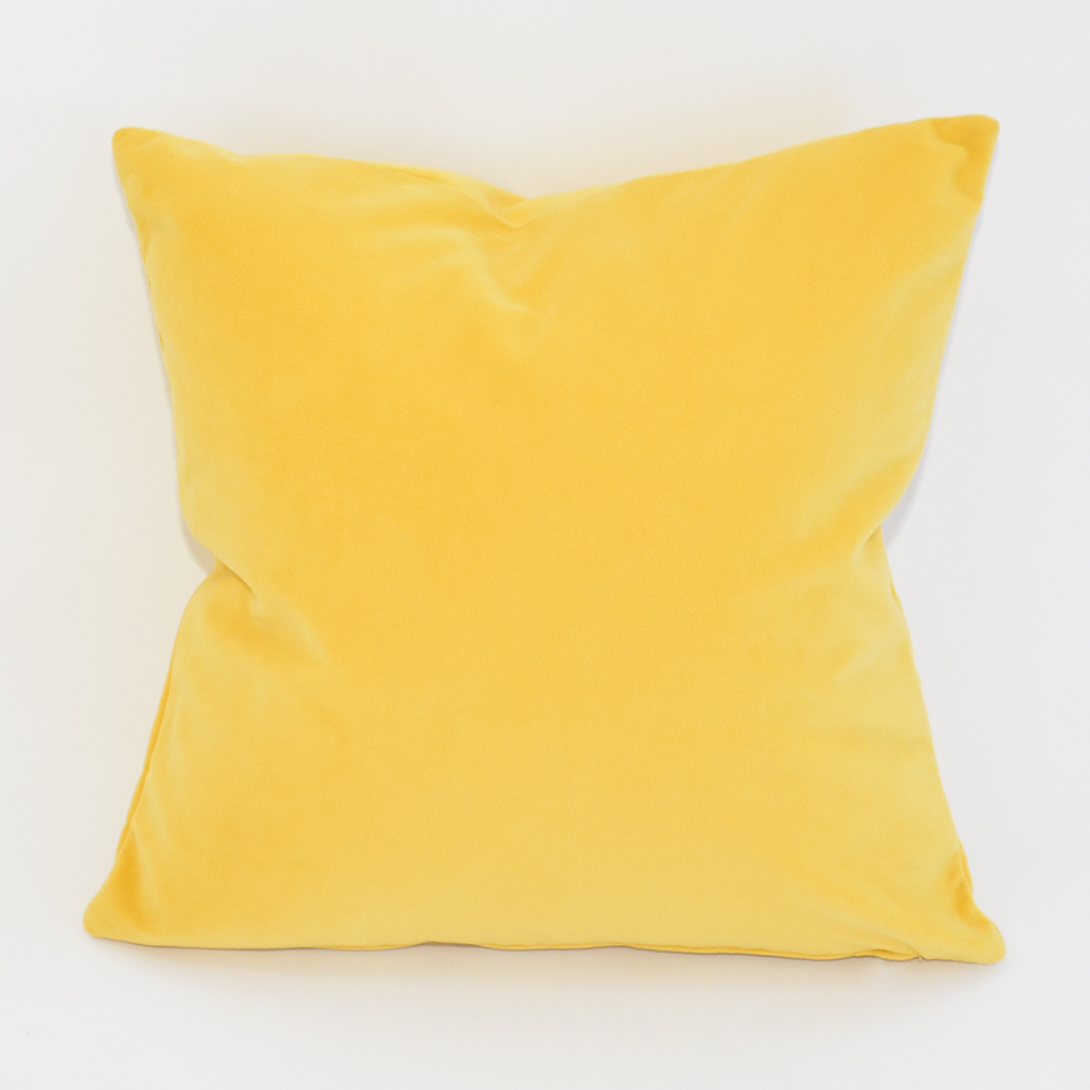 lemon velvet pillow