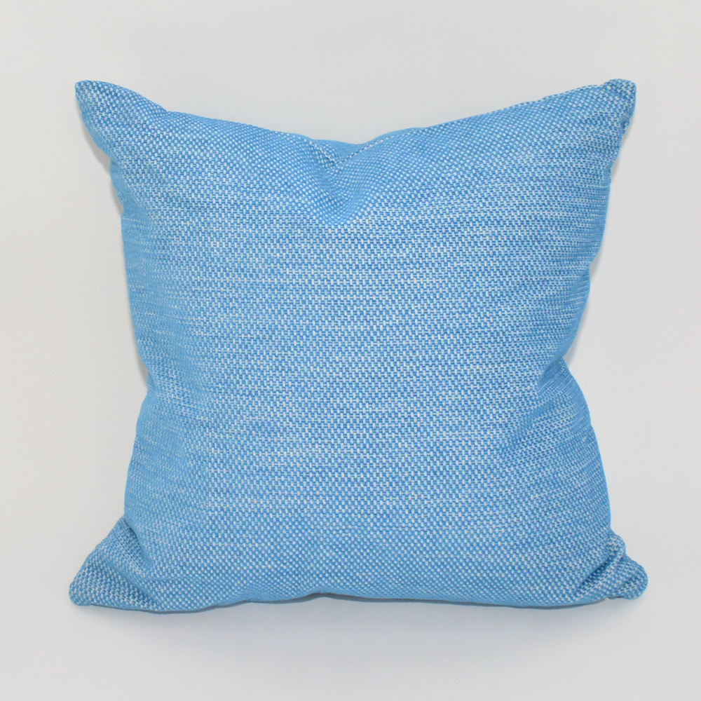 sky blue pillow