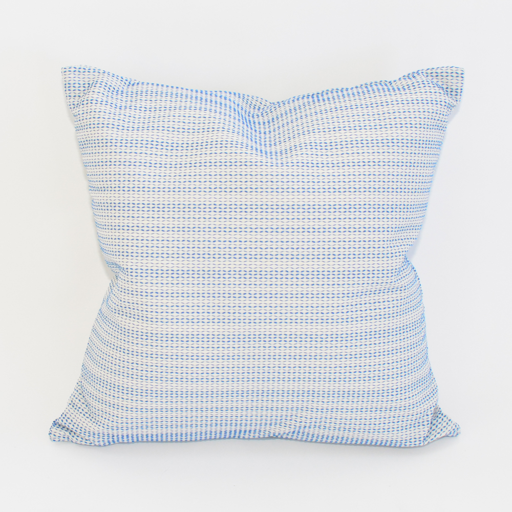 crystal blue pillow