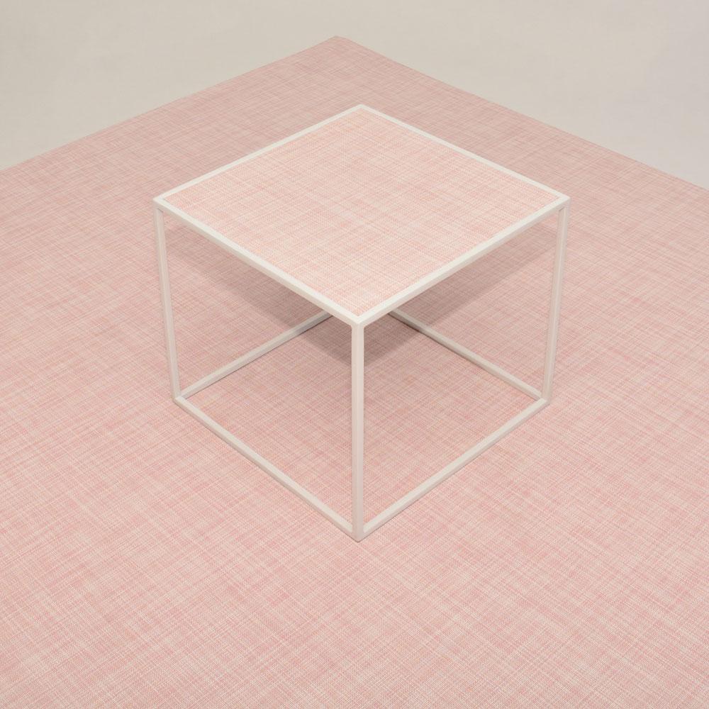 calvin side table square-chilewich blush