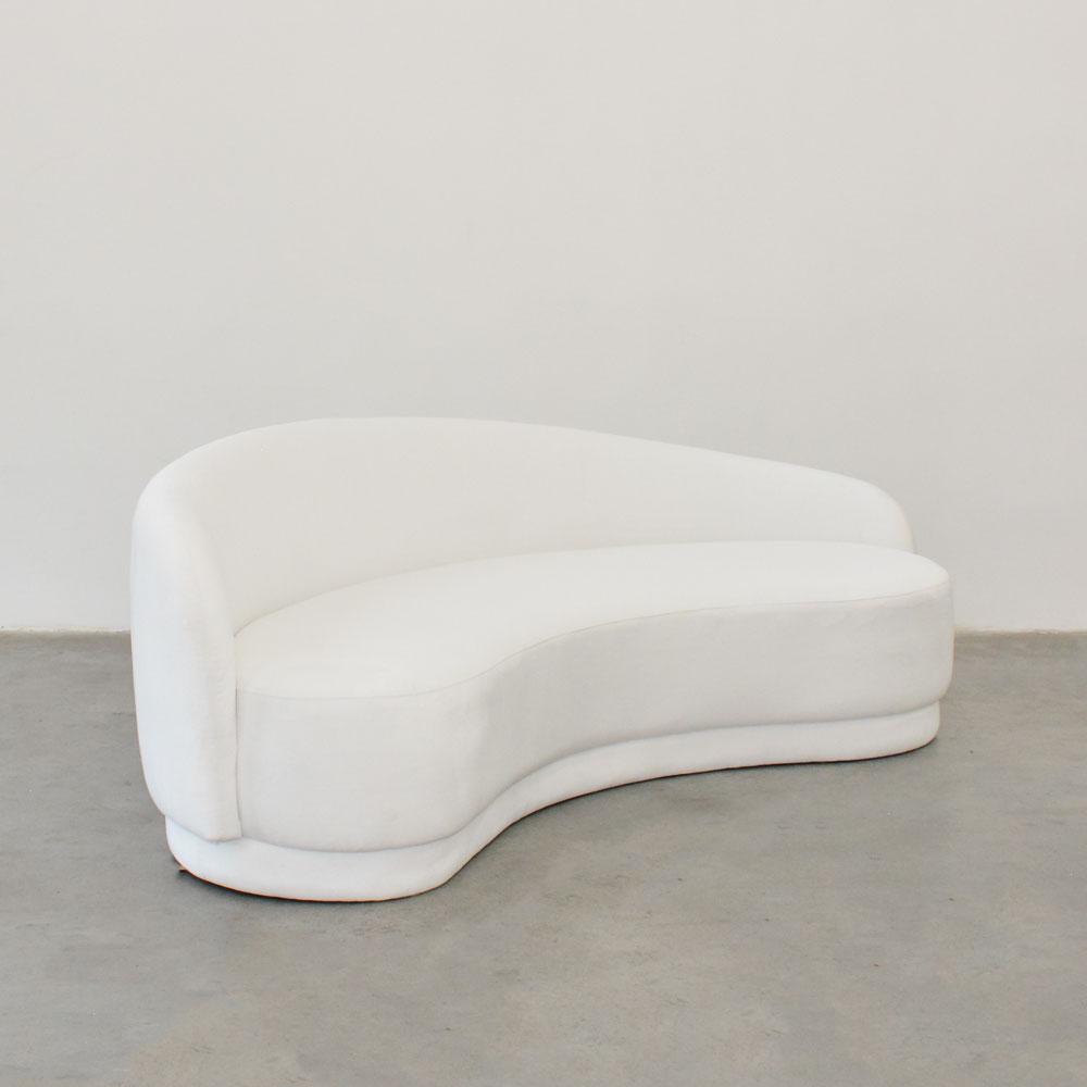 slope sofa white