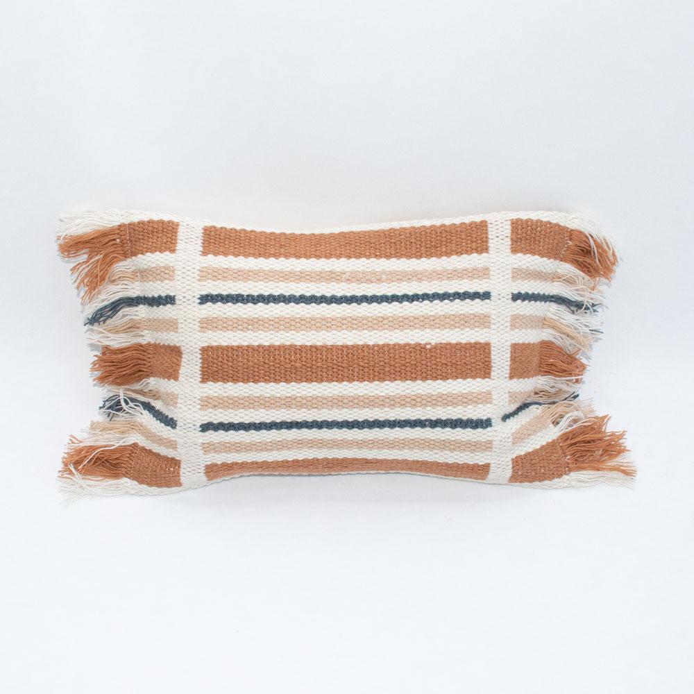 terracotta stripe pillow