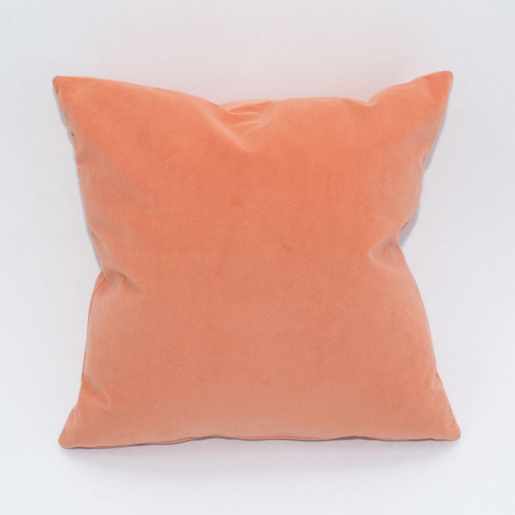papaya velvet pillow