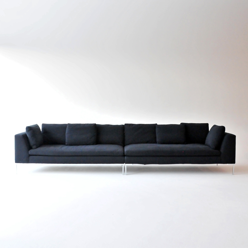 hudson loveseat black