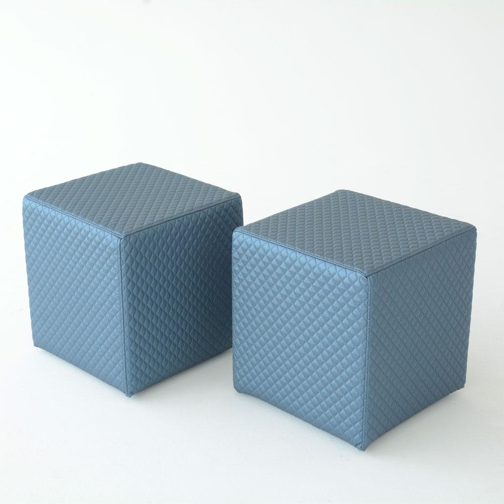 oscar cube quilt blue