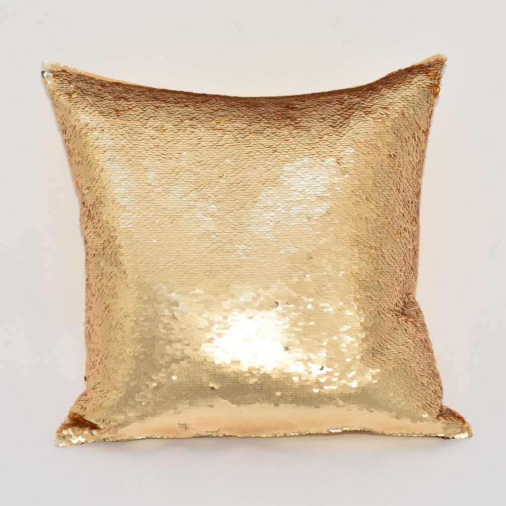 sequin gold pillow