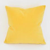 lemon velvet square pillow