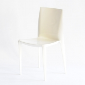 bellini chair off-white glossy