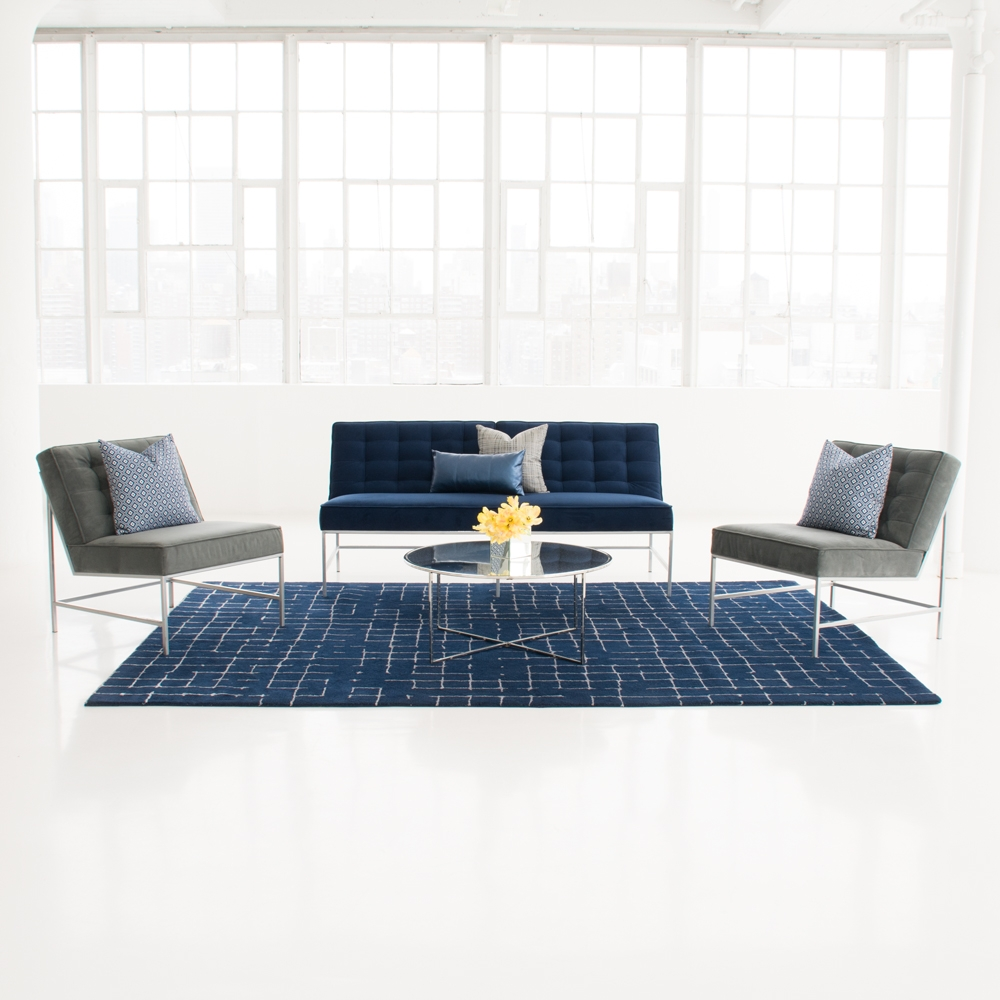 Additional image for navy net area rug