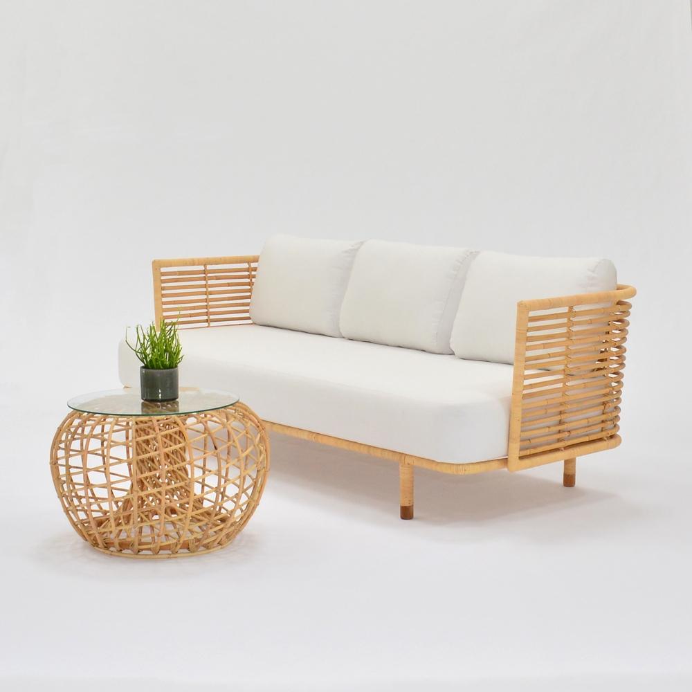 Additional image for cane sofa white