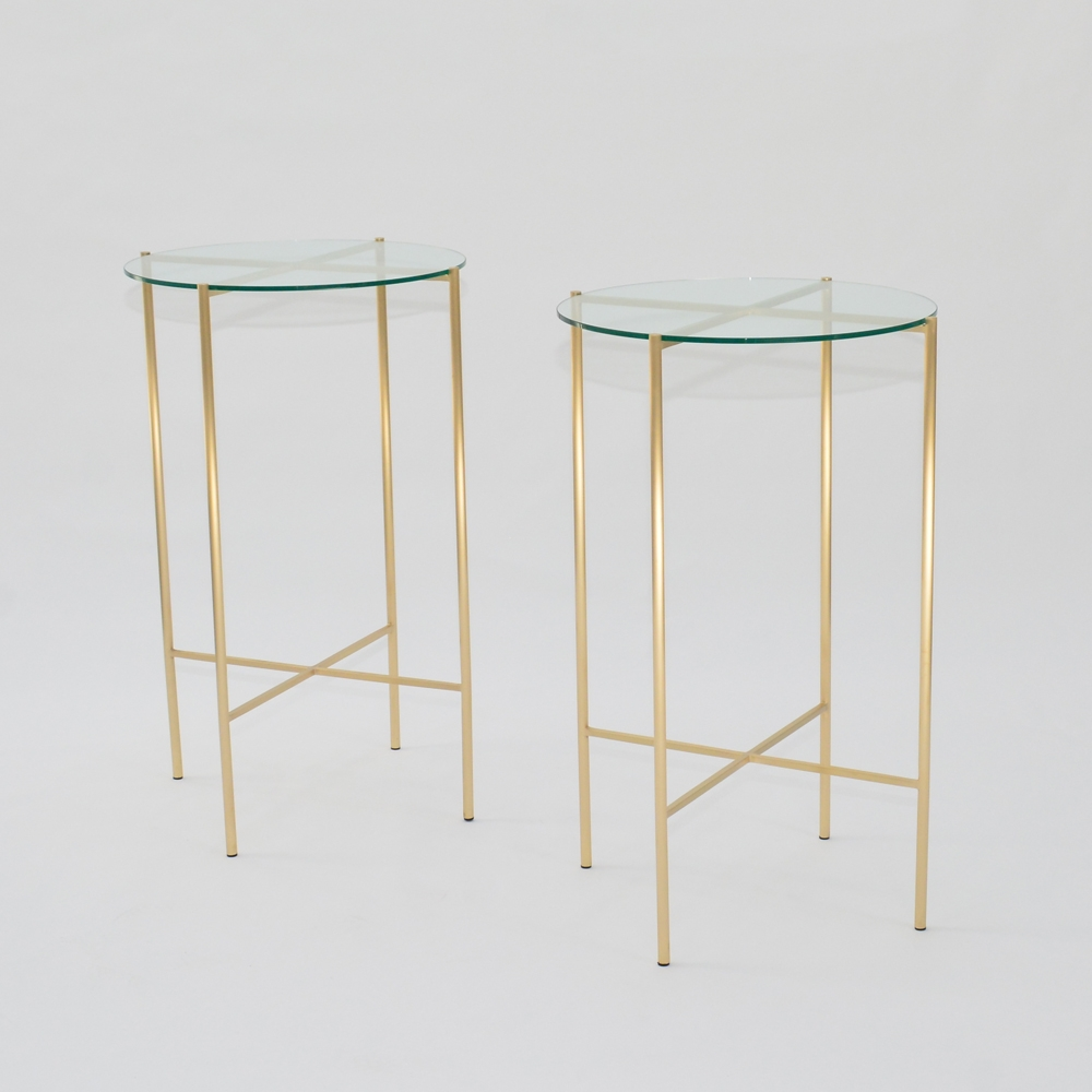 Additional image for maxwell round highboy clear glass