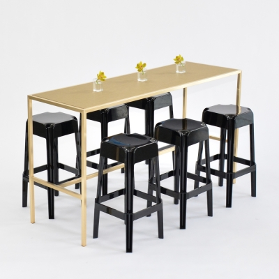 Additional image for maxwell runner table - chilewich new gold
