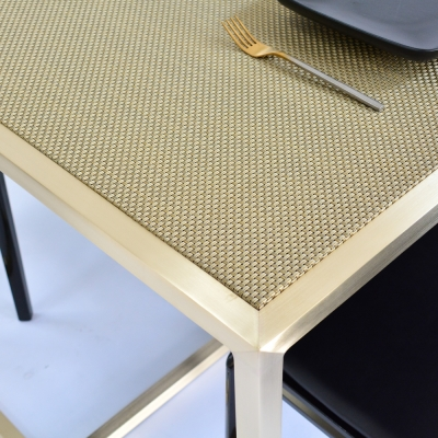 Additional image for maxwell dining table - chilewich new gold