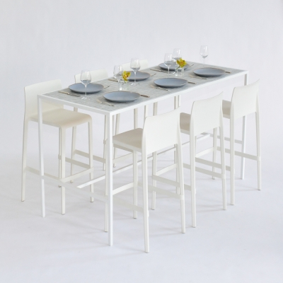 Additional image for communal table - chilewich white/silver