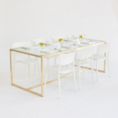 Additional image for maxwell dining table clear glass