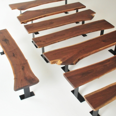 Additional image for walnut bench