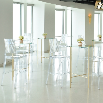 Additional image for maxwell round pedestal clear glass