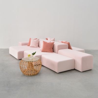 Additional image for millennial pink pillow
