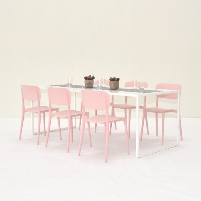 Additional image for harper chair pink