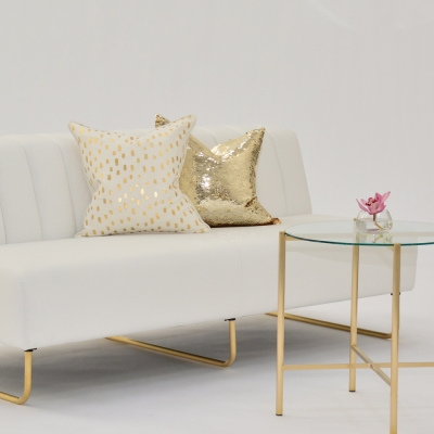 Additional image for sequin gold pillow