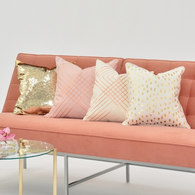 Additional image for rose foil metallic pillow
