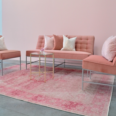 Additional image for tea rose area rug