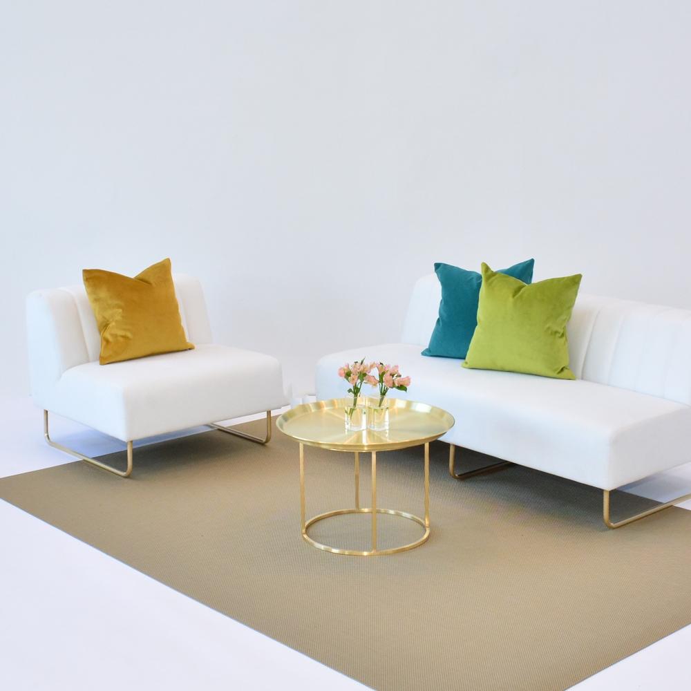 Additional image for aqua velvet pillow