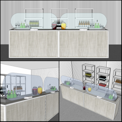 Additional image for softwall beverage service