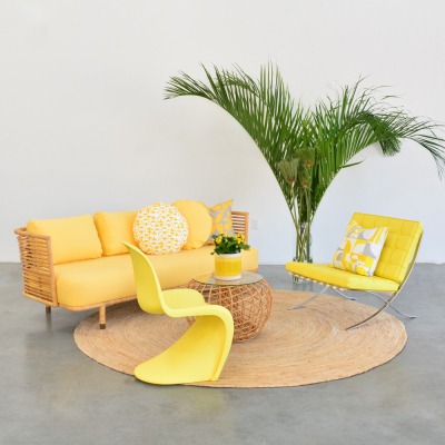 Additional image for barcelona chair yellow
