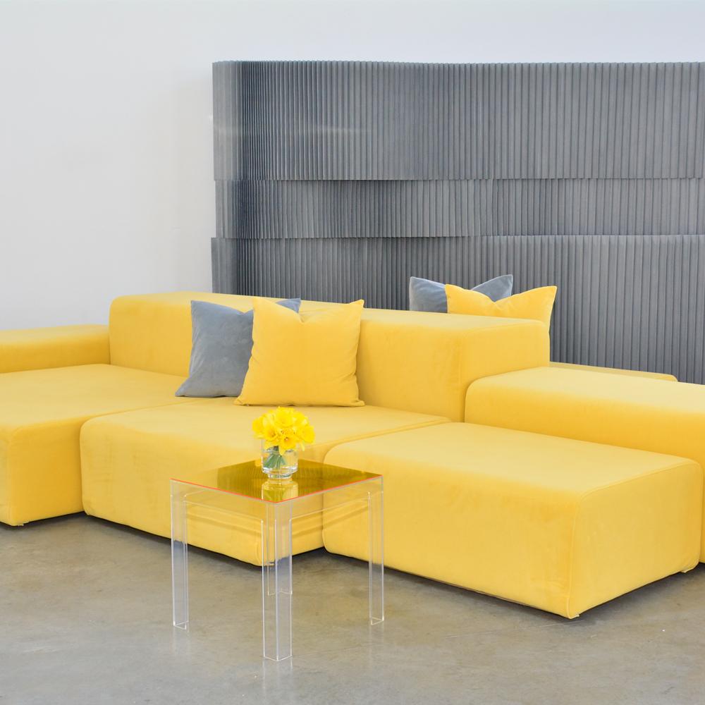 Additional image for lemon velvet pillow