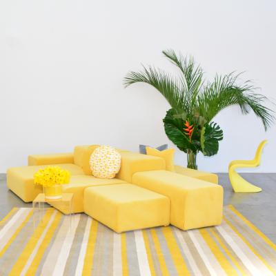 Additional image for lemon velvet round pillow