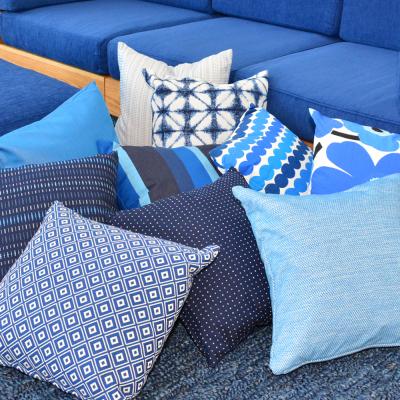 Additional image for indigo stripe pillow