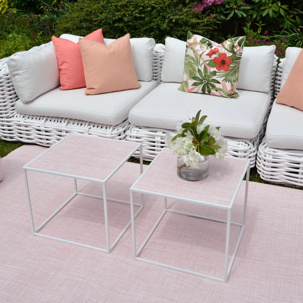 Additional image for calvin side table square-chilewich blush