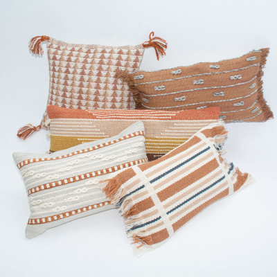 Additional image for terracotta stripe pillow