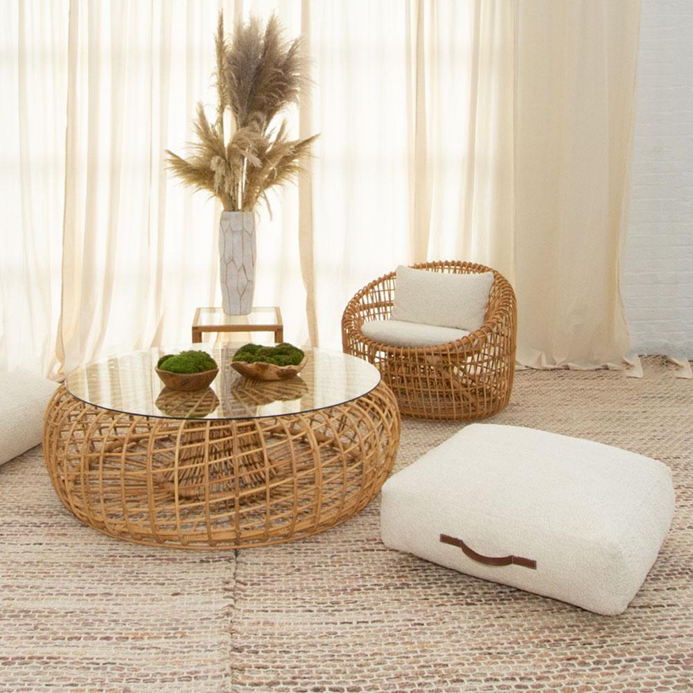 Additional image for faux sheepskin floor cushion