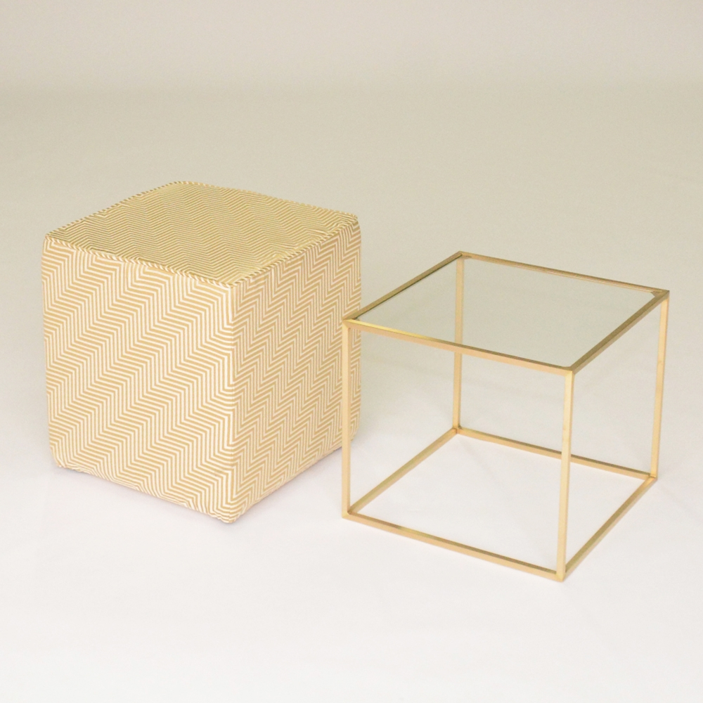 Additional image for oscar cube chevron gold