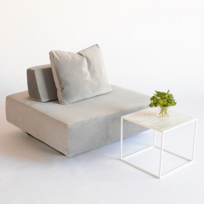 Additional image for calvin side table faux marble white