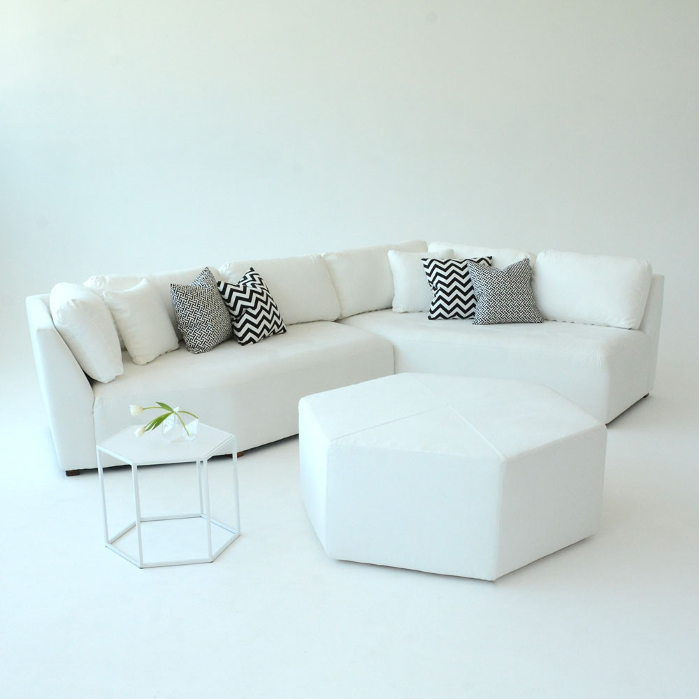 Additional image for hex ottoman white