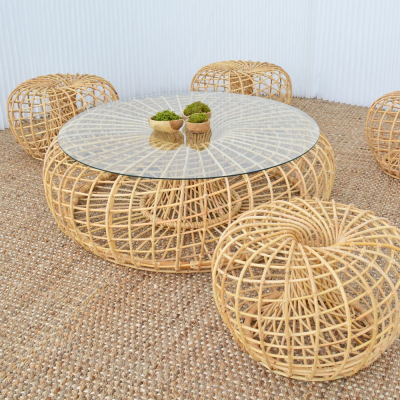 Additional image for cane coffee table